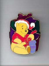 Disney Shopping Santa Winnie the Pooh Bow on Honey Pot Stained Glass LE 125 Pin