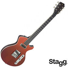 Stagg SILVERAY SERIES Custom Special Deluxe Flamed Maple Top Electric Guitar Red
