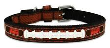 Cleveland Browns Toy Leather Lace Dog Collar [NEW] NFL Pet Cat Lead Small XS