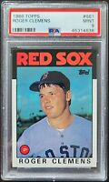 1986 Topps #661 Roger Clemens PSA 9 Mint Boston Red Sox MLB Baseball