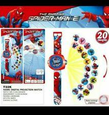 NEW Spiderman Watch Spiderman Kids Children Digital Projector Watch 20 images