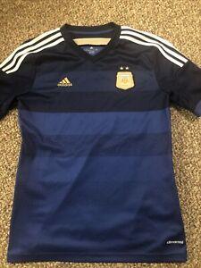 Youth ADIDAS Black Blue Argentina AFA National Soccer Boys Sz Xl Team Jersey