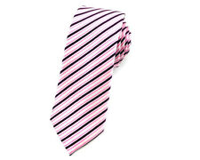 Mens Skinny Tie 6 CM Striped Wedding Business Groomsmen Ties CHOOSE COLOR