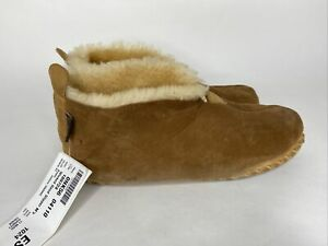 LL Bean Mens Wicked Good Brown Shearling Lined Boot Slippers Size 11 M READ (F)