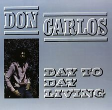 """Don Carlos """"Day To Day Living"""" LP Record Greensleeves - Brand New Sealed Reggae"""