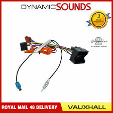 Vauxhall Quadlock Car Stereo Radio ISO Wiring Harness Connector Adaptor Cable