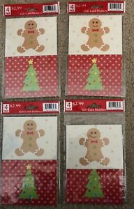 Lot Of 16- Christmas Holiday Gift Card Holders 4 Different Designs In 4-4packs
