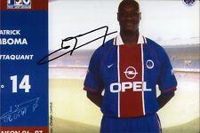 Patrick M'Boma - Paris Saint-Germain - PSG - Fußball Original Autogramm (M-2495