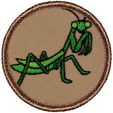 """Praying Mantis Patrol Patch - 2"""" Round Embroidered Patch"""