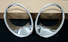 CHROME HEAD LAMP LIGHT COVER TRIM FOR NISSAN JUKE 4DOOR HATCHBACK 2012 - 2013 12