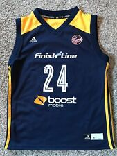 Tamika Catchings #24 Indiana Fever Tennessee WNBA Jersey Sz L Youth Adidas