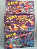 3x Vintage Toybiz Spider-Man Vehicle Mint in sealed Box / 3x Spiderman Fahrzeug