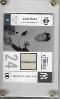 2001 Upper Deck Legends of New York Duke Maas Yankees Game Used Jersey Rare SP