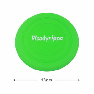 Dog Puppy Fetch Training Toy Flying Disc Silicone Frisbee Kids  Green