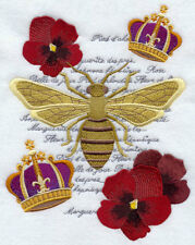 Napoleon BEE COLLAGE  EMBROIDERED SET OF 2 HAND TOWELS BY LAURA