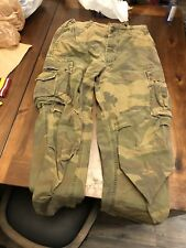 ABERCROMBIE & FITCH Camouflage MENS CARGO PANTS CAMO SIZE 32 R  A&F