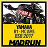 Kit Adesivi Yamaha R1 - R1M 2017 BSB Team Flint - High Quality Decals