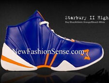 New Authentic Starbury 2 Blue Orange White High Top Basketball Shoes Size 7.5