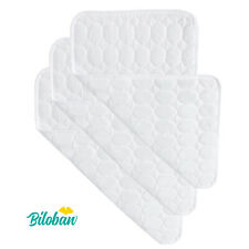 Quilted Cotton Waterproof Diaper Changing Pad Cover Liner 3 Count Larger White