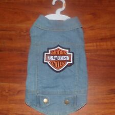 Harley Davidson Dog denim jacket  Sz L