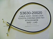 Toyota Corona 1965-70 RT43/52/4#/5# RHD & LHD New Hood Cable 53630-20020