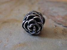 Edelstahl Bead Element Rose Blume Fb Antiksilber Silber für Armband 1440