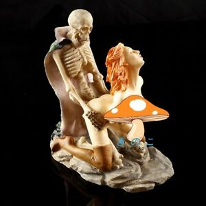 14cm Skull Ornament Statue Figurine Sculpture Home Halloween Vintage Gothic