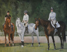 Riders Ready Original Horse Art Oil Painting