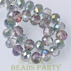 50pcs 10x7mm Rondelle Faceted Loose Spacer Crystal Glass Beads Rose Green