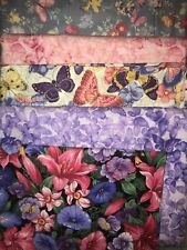 5 YARDS  Quilt Fabric Kit - Cranston & Northcott Florals & Butterflies