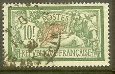 """FRANCE TIMBRE STAMP N° 207 """" MERSON 10 F VERT ET ROUGE """" OBLITERE TB"""