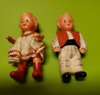 "Vtg 1920's Celluloid 3"" Dolls"