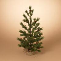 "Miniature Pine Tree with Burlap Base - 24"" H - Christmas Holiday"