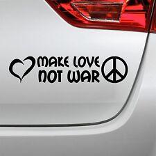 Make love not war Aufkleber Peace Love Frieden Sticker Autoaufkleber