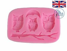 Mini Owl Branch Silicone Mould Fondant Sugarcraft Bird Mold Cake Decorating