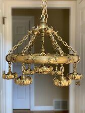 Antique Bronze Brass French Empire Directories Victorian Chandelier