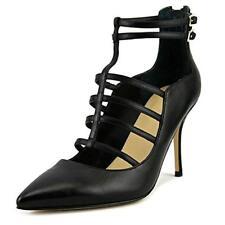 $145 size 8.5 Ivanka Trump Domin Black Leather Pump Heel Womens Dress Shoes NEW