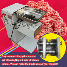 500KG/h meat cutting slicing machine,pork,beef cutter slicer,with two free blade