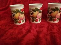 Springfield Bone China SET OF 3! Made in England Plums & Fruits