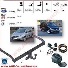 Gancio traino fisso VW Sharan 2000-2010 + kit elettrico 13-poli OMOLOGAZIONE