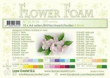 LeCrea - 10 Flower Foam sheets A4 Off white 25.4124  0.8mm