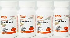 Rugby Simethicone Gas Relief 180mg (Compare to Phazyme) 60ct -4 pack-Exp 08-2022