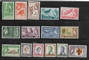 #V - Sarawak - Mint LH Set of 15 ($5 is NH) - Scott# 197-211