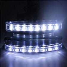 1pc Super Bright 8 LED Car DRL Daytime Running Light Daylight Bulb Head Lamp