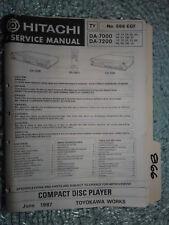 Hitachi da-7000 7200 service manual original repair book stereo cd player