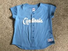 VTG St Louis CARDINALS MLB MAJESTIC Blue Throwback JERSEY Womens Sz L Sewn