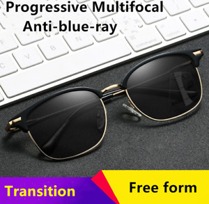 Eyebrow Photochromic Progressive Multifocal Anti Blue Reading glasses Transition