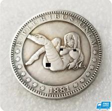1881 Sexy Girl Morgan Dollar Hobo Coin T2 for Collectors Commemorative Coins