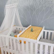 Puckdaddy Wickelbrett Mika 87x44,5cm Wickelaufsatz aus Holz in Weiß für Babybett