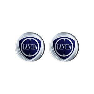 Adesivo Lancia 3D Ufficiale Logo 12 mm, 2 pezzi